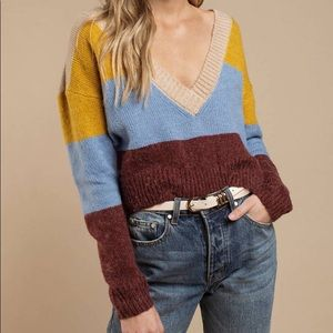 For Love & Lemons Wellesley Stripe Sweater